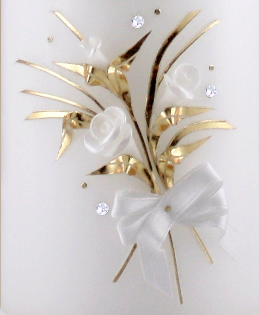 Kerze Zur Goldenen Hochzeit Abschlussband 50 Und Blumenstrauss